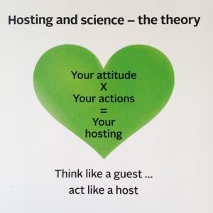 votre attitude multipliée par vos actions égalent votre accueil